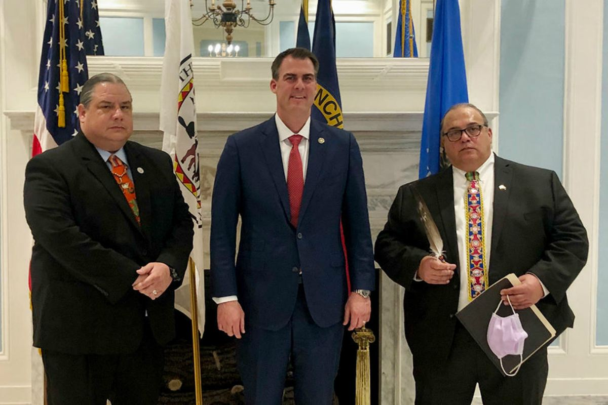 Oklahoma tribes gaming compacts Stitt