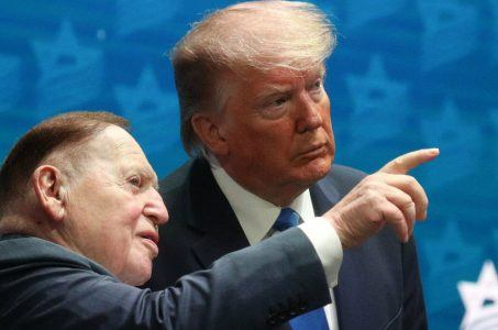 Sheldon Adelson political donations Donald Trump