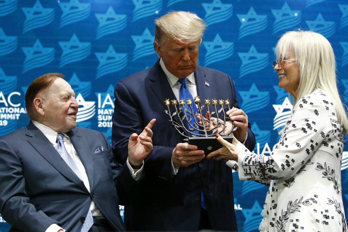 Sheldon Adelson Trump 2020 odds