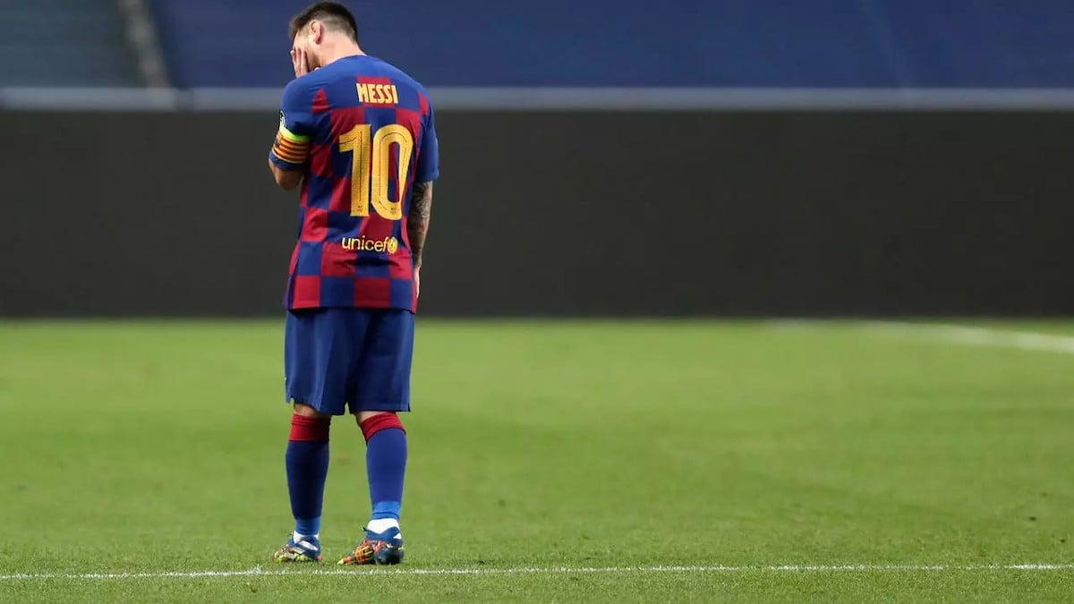 Lionel Messi Barcelona Man City