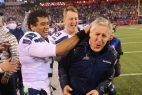 Seahawks Russell Wilson and Pete Carroll