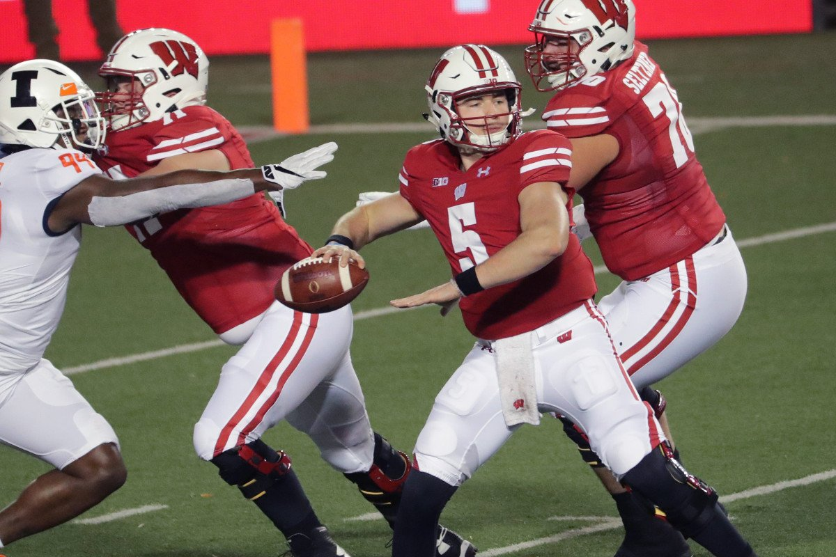 Wisconsin Badgers QB Graham Mertz