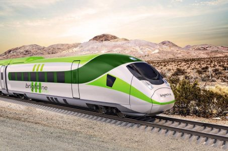 Las Vegas train Brightline bonds California