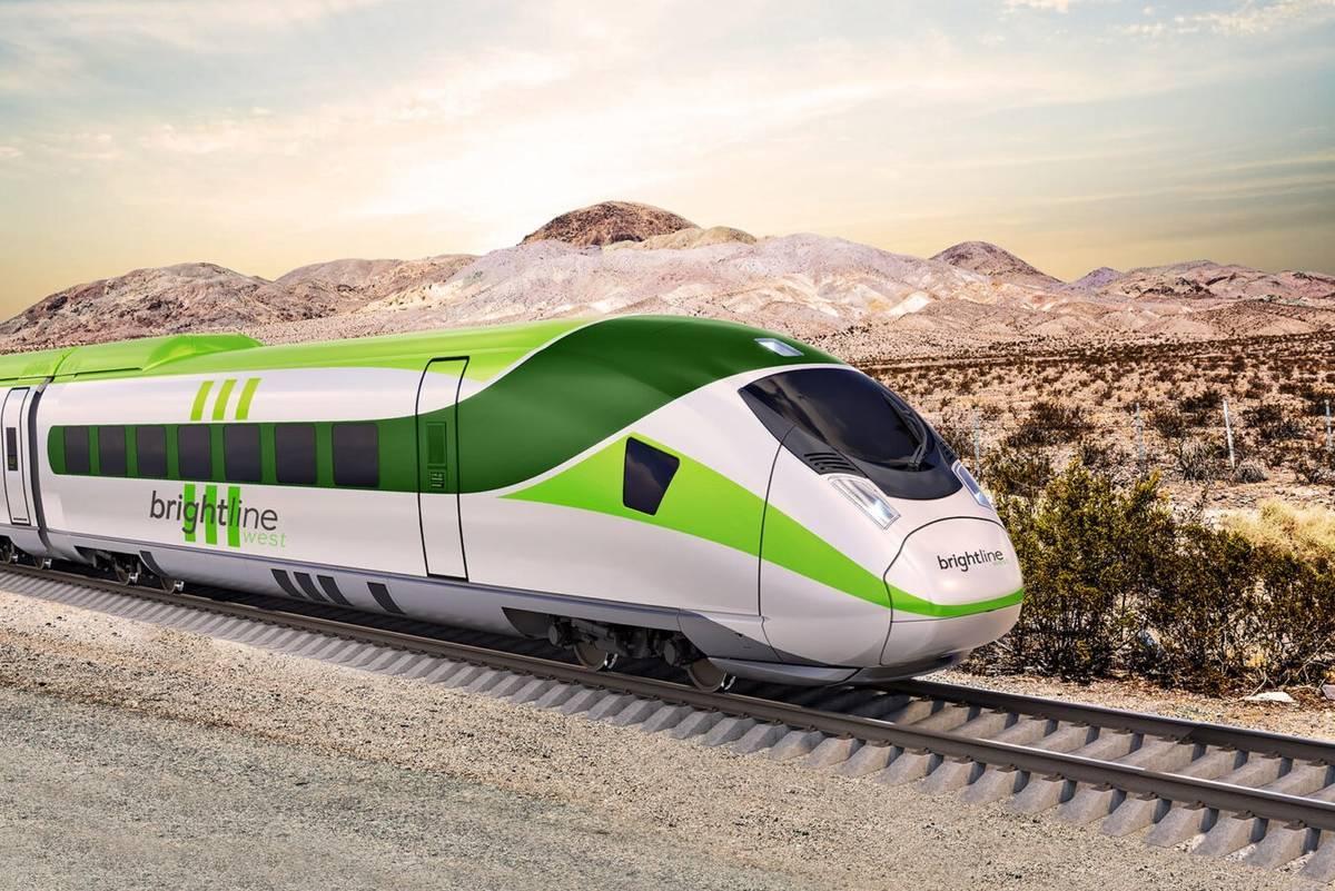 Las Vegas train Brightline bonds California