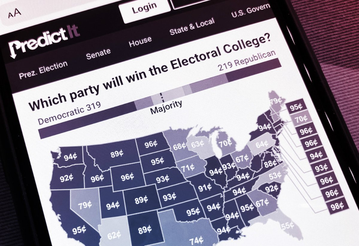 PredictIt betting odds US election