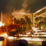 The Mirage in Las Vegas Goes Dark Midweek During COVID-19 Slowdown