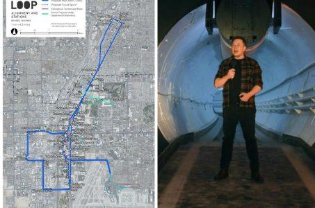 Las Vegas Loop Boring tunnel Musk
