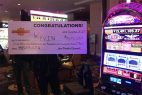 The lucky player had put about $40 into the slot machine before the historic payoff at about 12:30 pm on Thursday