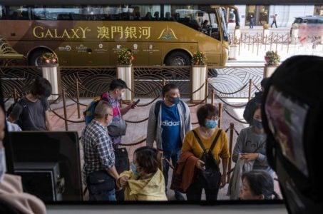 Macau casinos gaming revenue GGR