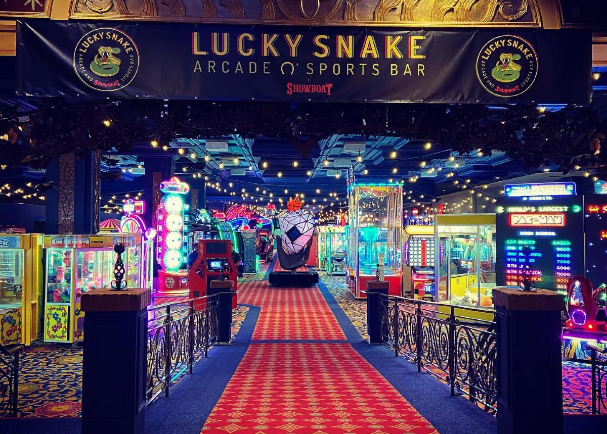 Showboat Atlantic City casino arcade