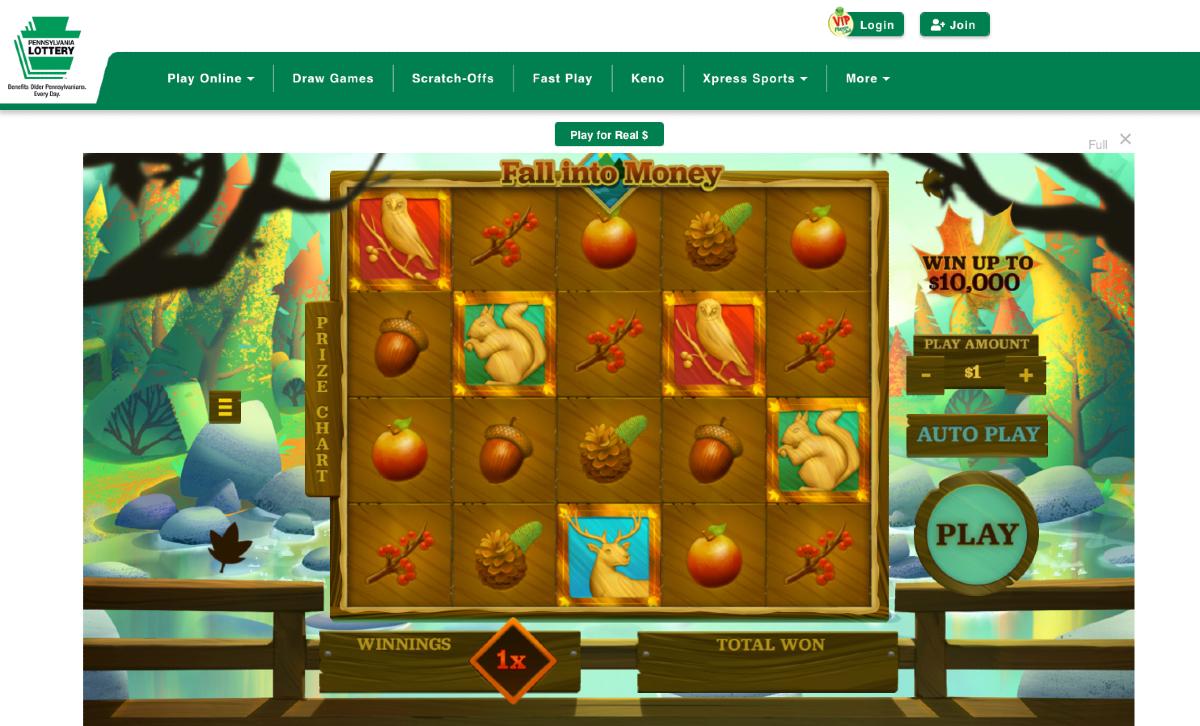 Pennsylvania Lottery online gaming casino