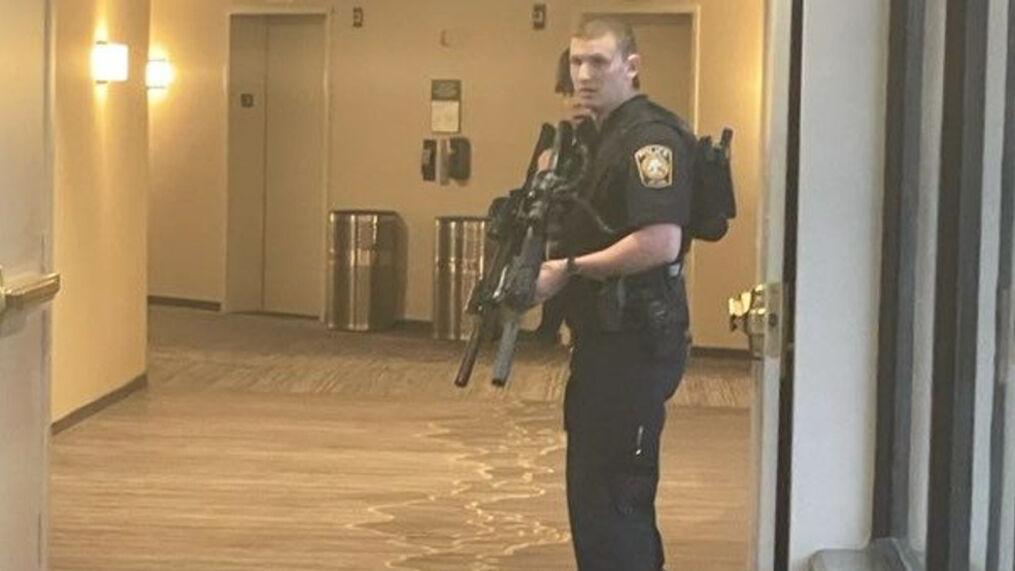 The casino was evacuated