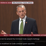 Debate on Canadian Sports Betting Bill Likely to Resume Monday