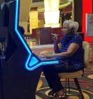 Casino patron smoking