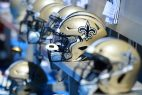New Orleans Saints helmets