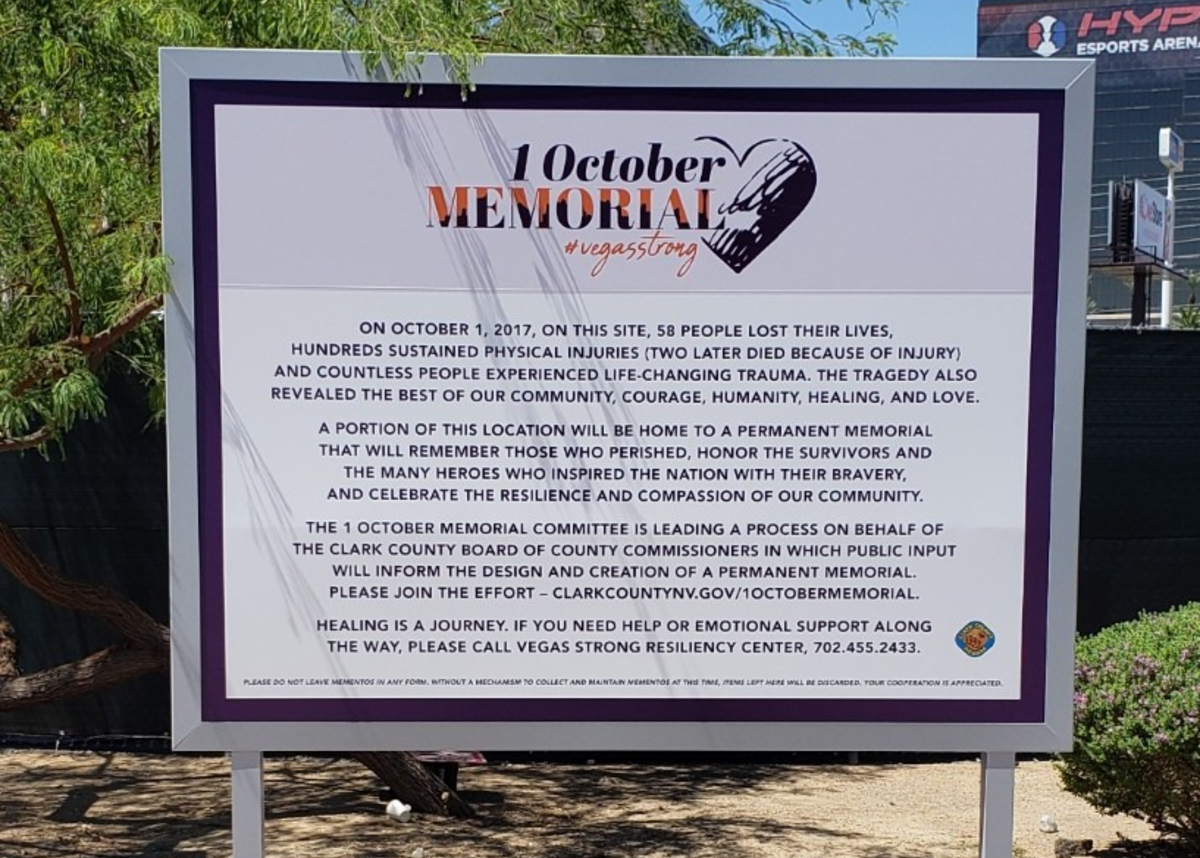 Las Vegas shooting memorial 1 October
