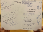 "Harrah's Lake Tahoe ""thank you"" card"
