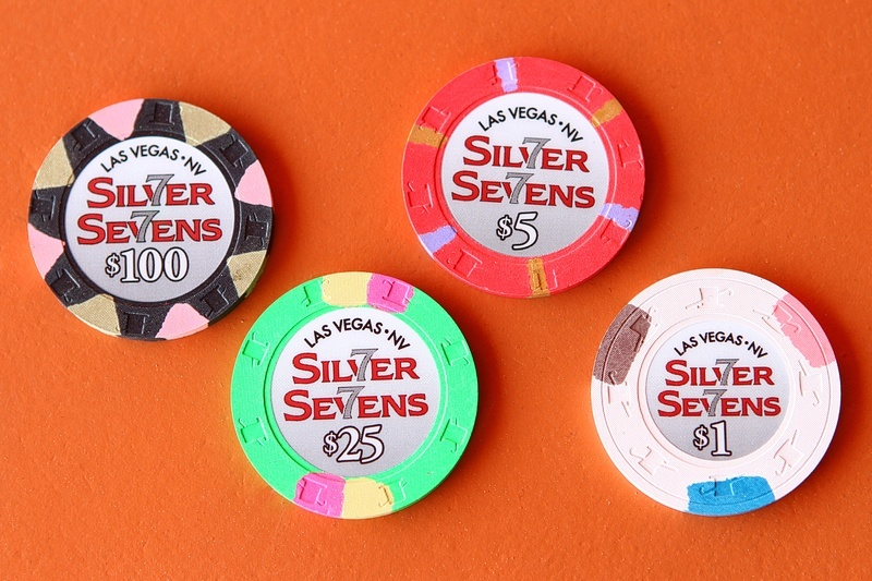 Casino chips don't stay this clean for long, trust us.