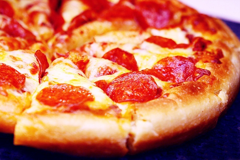 """We tend to ignore the """"Don't fill up on pizza!"""" rule, too."""