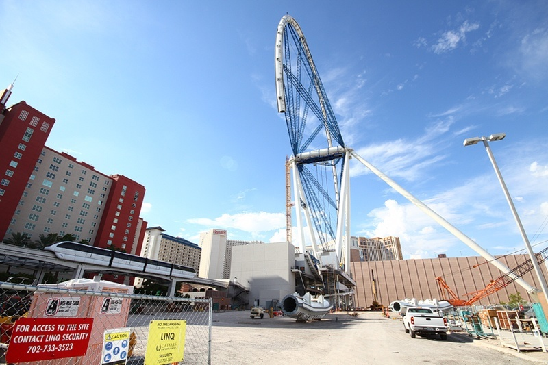 The High Roller makes surrounding hotels look like they've shrunk.