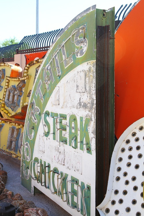 The sign for the Green Shack. It closed in 1999, after being one of the longest continuously open restaurants in Las Vegas.