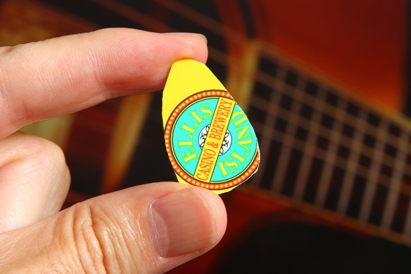 We have clearly never used an actual guitar pick, but you get the idea.