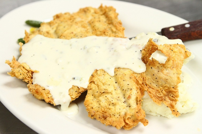 The chicken-fried steak in on just about every table in the place.