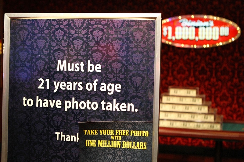 Despite what the sign says, you don't have to be 21. You can also be older than 21.
