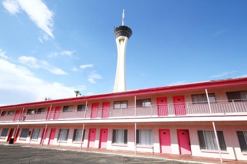 Las Vegas pink motel