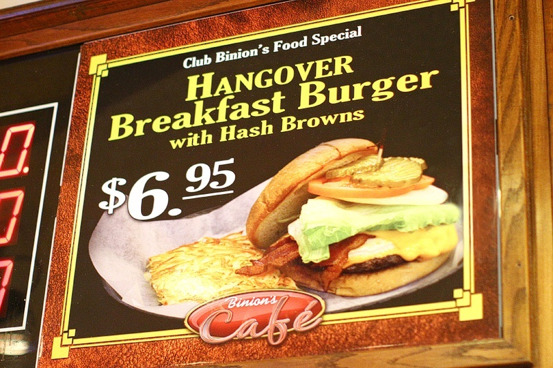 Binion's does some of the best burgers in town, if you ask us, which you didn't, but you should.