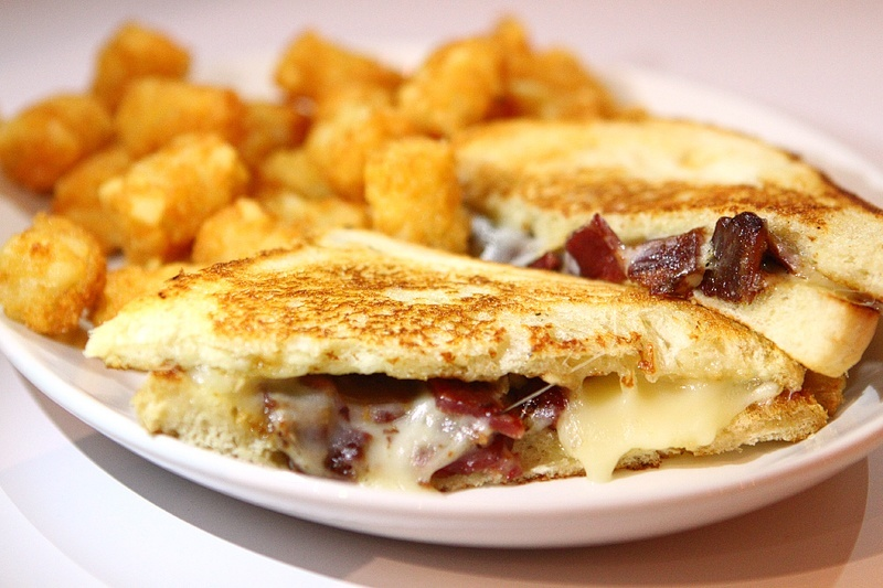 """The grilled cheese. Like we said, we're trying to withhold judgment. Although, """"it's just a soft opening"""" is going to get old mighty quick."""
