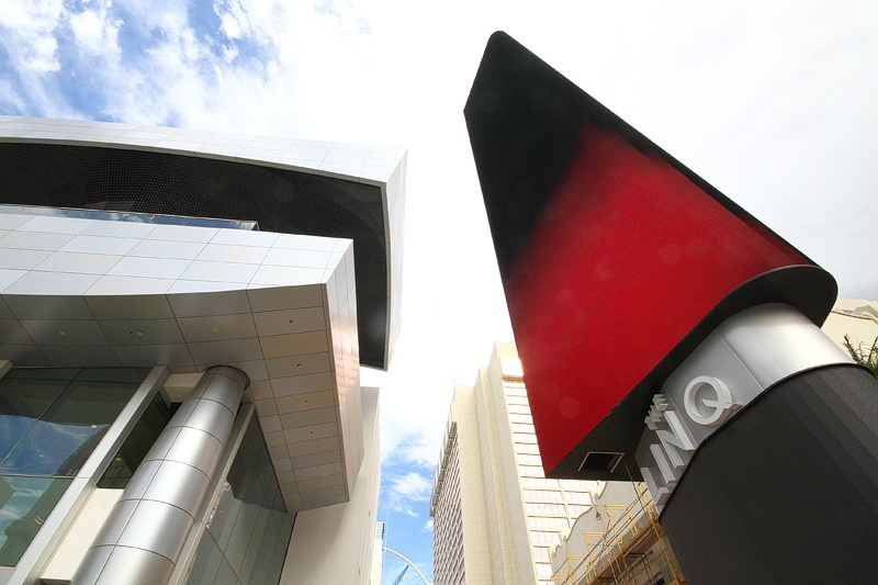 """The Linq was designed to be an """"eclectic urban streetscape,"""" whatever that might be."""