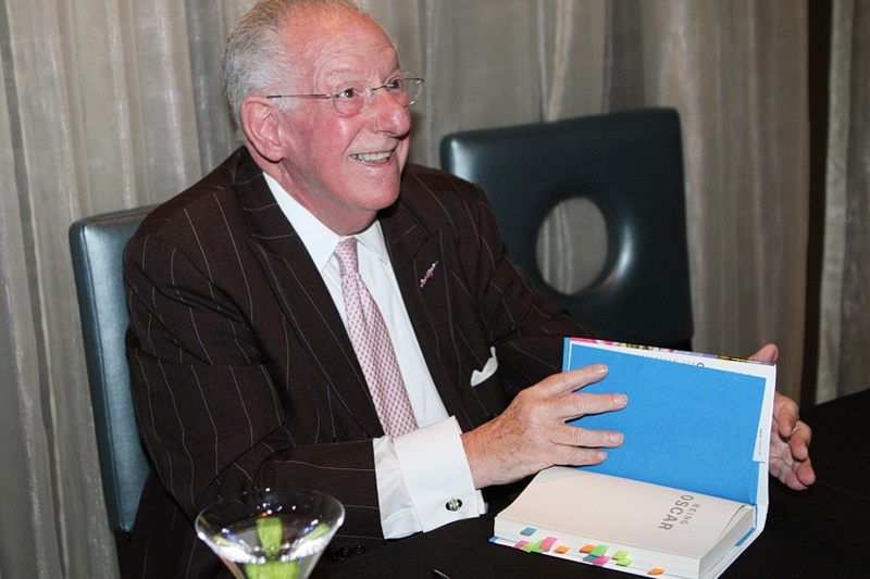 Oscar Goodman's book signing was held at a restaurant at The Plaza hotel bearing his name, Oscar's Beef, Booze and Broads.