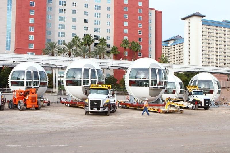 High Roller passenger cabins