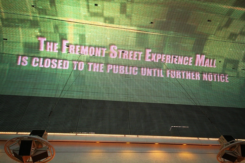 """Until this sign on the Fremont Street canopy we'd never heard it called a """"mall."""""""