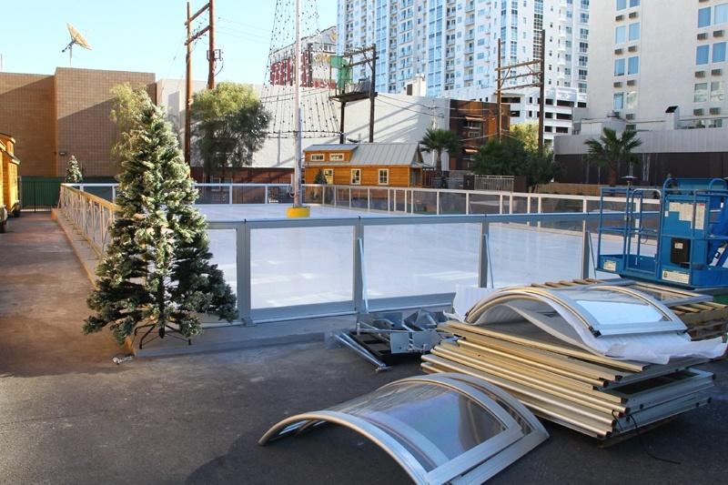 Gold Spike skating rink