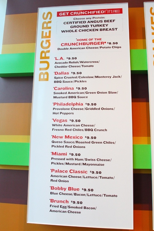 Bobby's Burger Palace menu