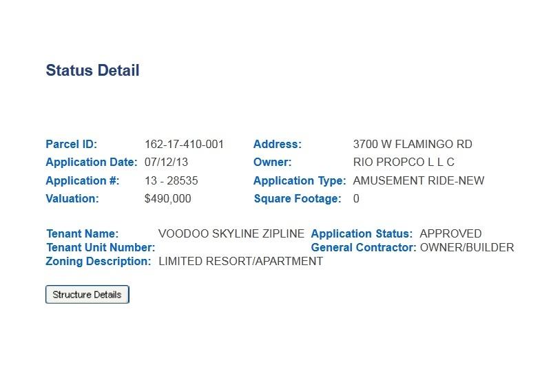 VooDoo Zip Line permit