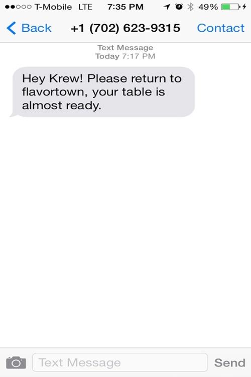 Guy Fieri text message