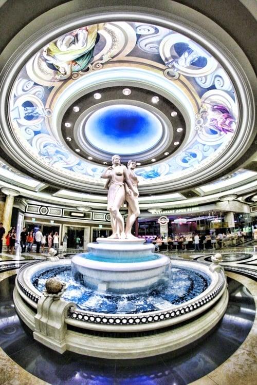 lobby at Caesars Palace