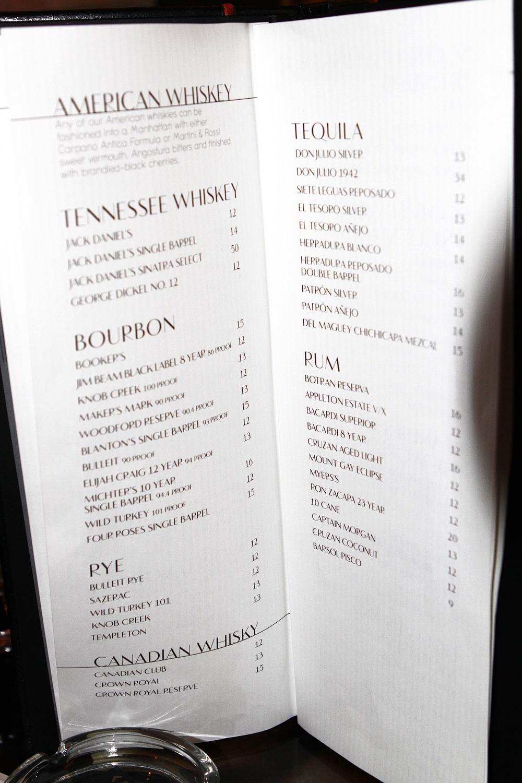 Robust Wine Bar Drink Menu
