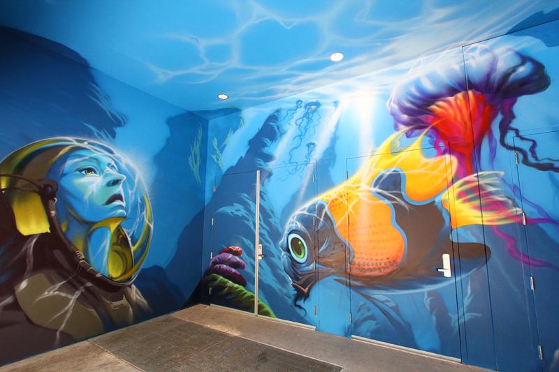 Linq Las Vegas murals