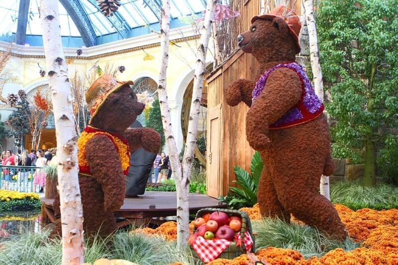 Bellagio Conservatory Gardens bears