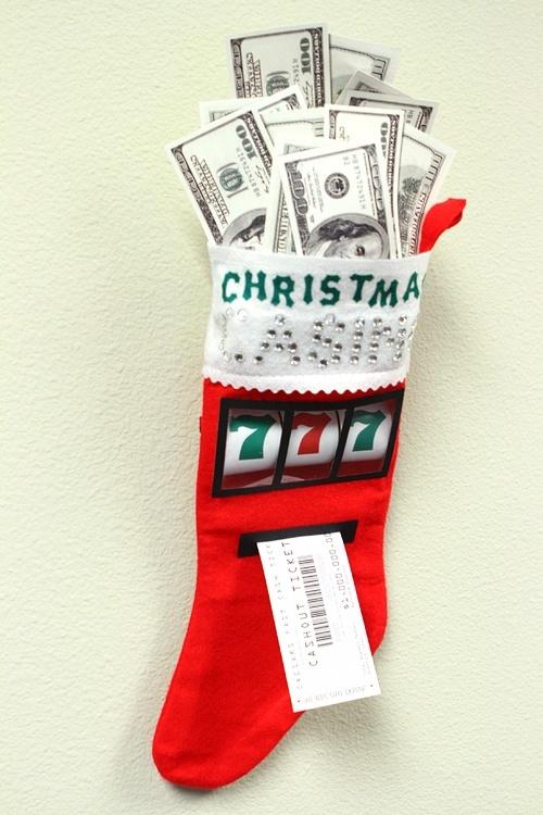 Las Vegas Christmas stocking