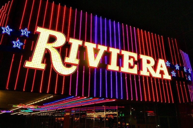 Riviera neon sign