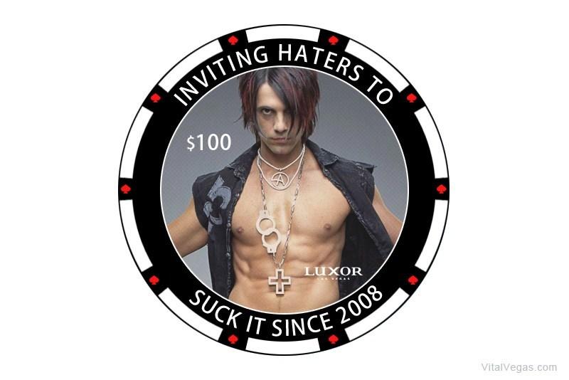Criss Angel casino chip