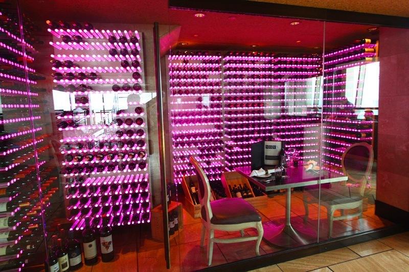 Nove Palms wine room