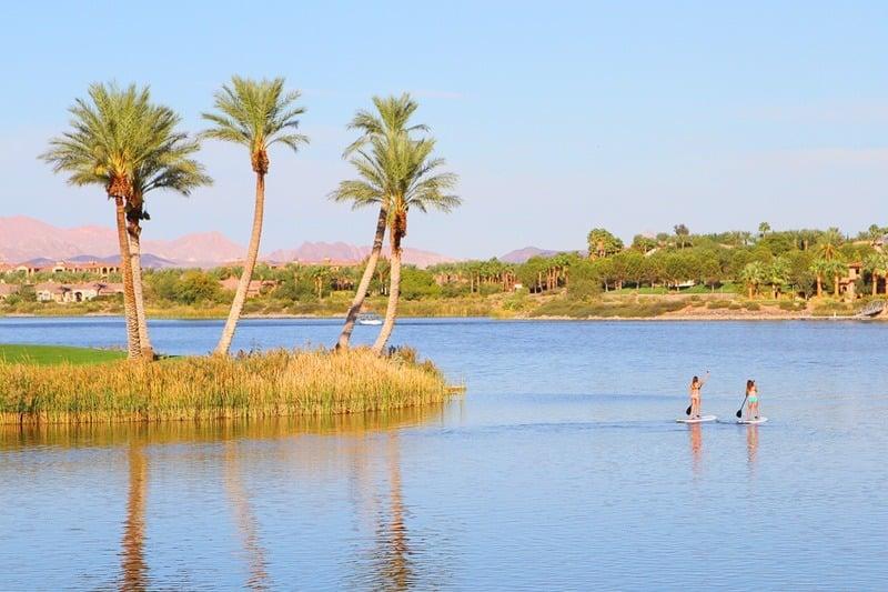 Lake Las Vegas paddle boarding