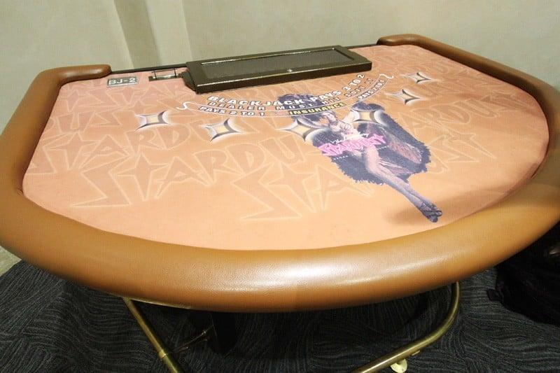Stardust blackjack table