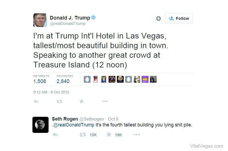 Trump Rogen Tweets